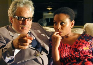 David Sinaiko and Felicia Benefield in <i>Victims of Duty</i>